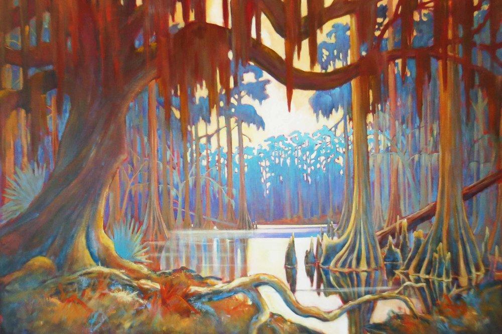 """Stillness In Paradise""  Acrylic on Canvas  48"" x 72"""