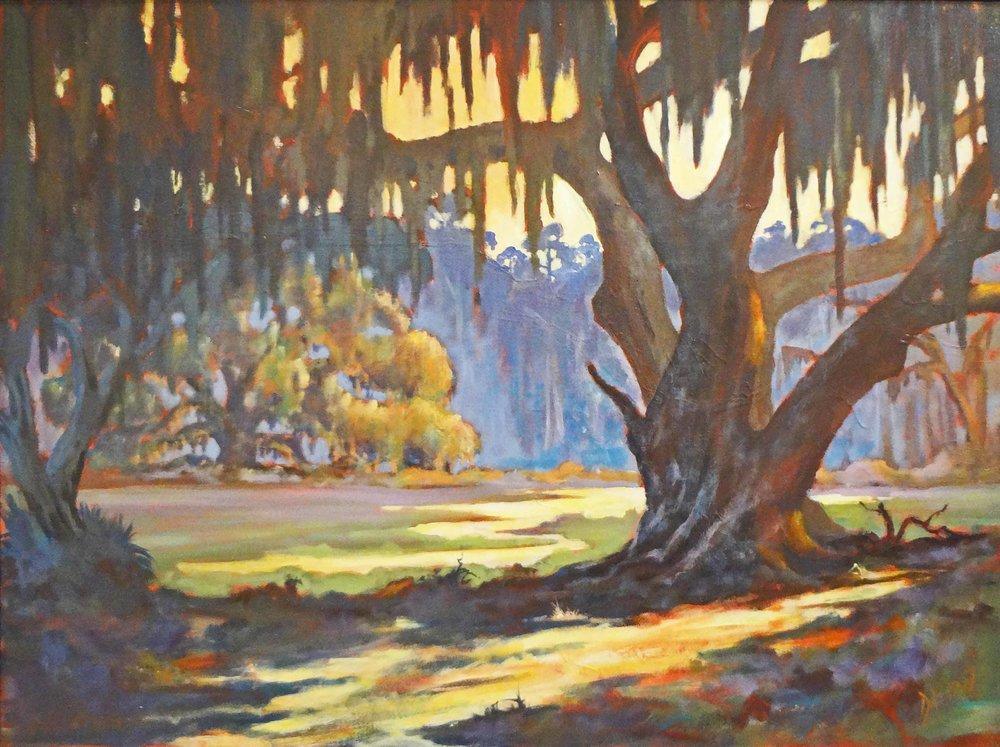 """Twin Oaks""  Acrylic on Canvas  22"" x 30"""