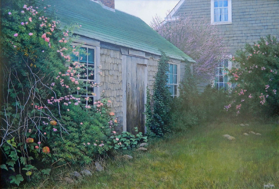 """Captain Henry Coleman's House""  #12079(Nantucket)  Acrylic on Panel  24"" x 34"""