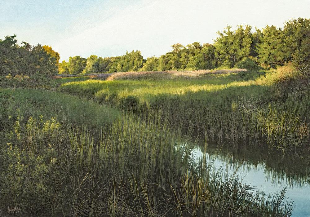 """The Salt Marsh""  #17111  Acrylic on Linen  28"" x 40"""