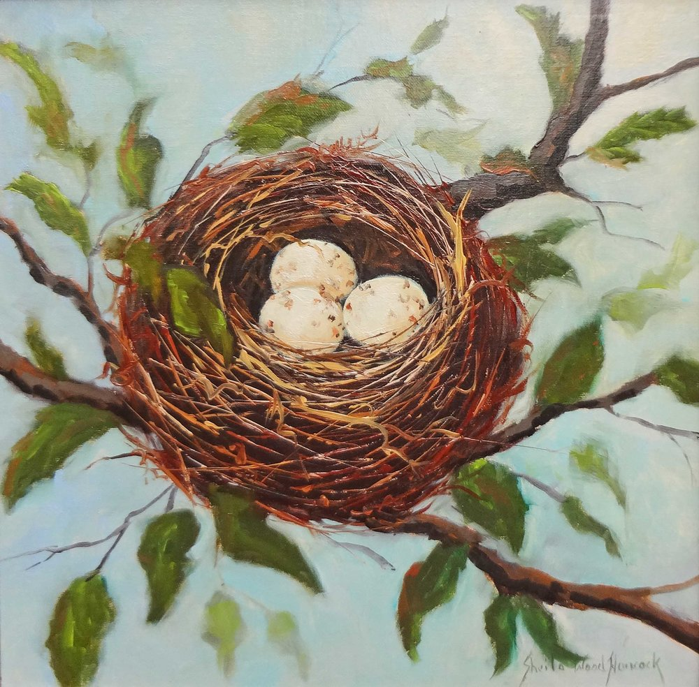 """Three's Company""  Oil on Board  12"" x 12"""