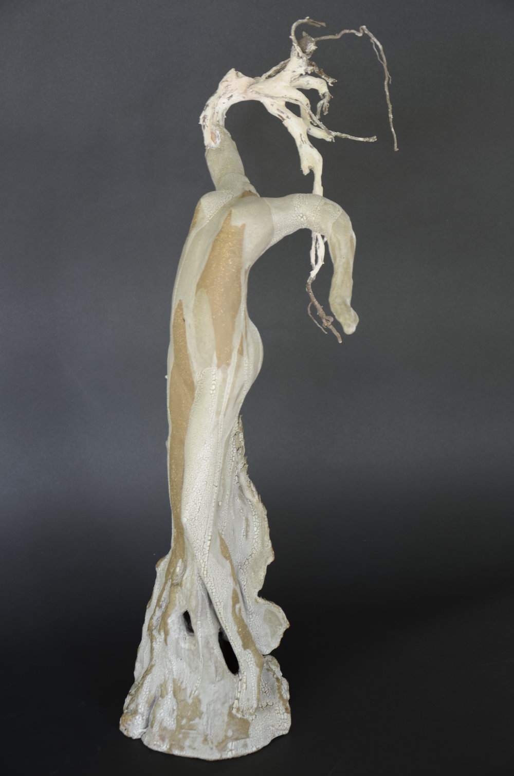 """Dryope""  Dryad of the Poplar Tree  24"" Clay Sculpture"