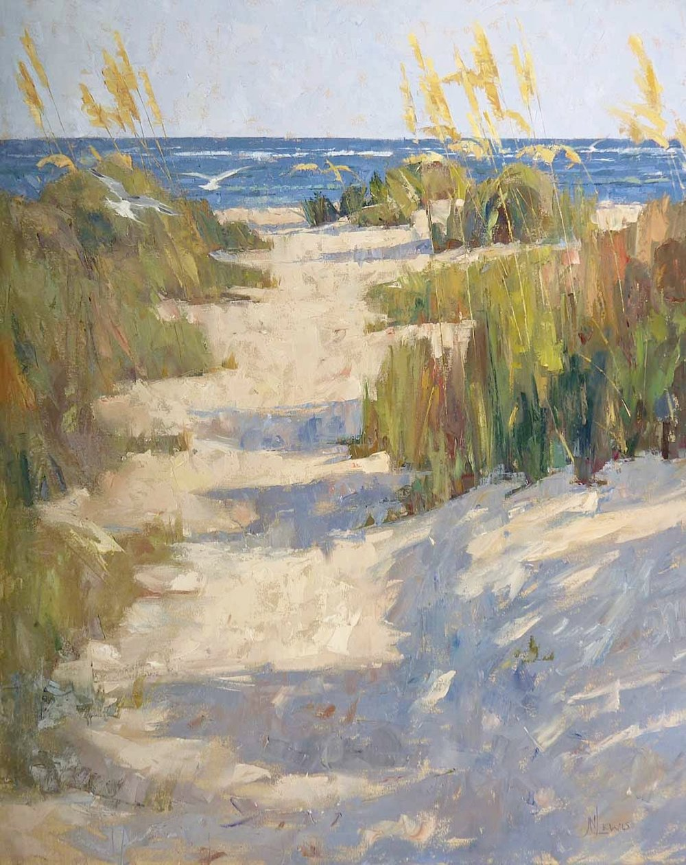 """The Beach Path""  Oil on Canvas  60"" x 48"""
