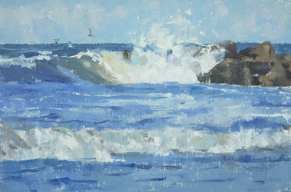 """Beach Breaker""  Oil on Canvas  24"" x 36"""