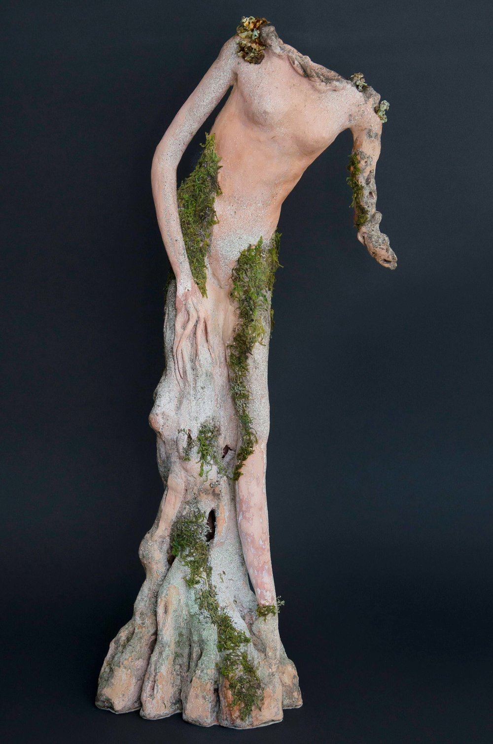 """Balanis""  Spirit of the Oak Tree  26"" Clay Sculpture"