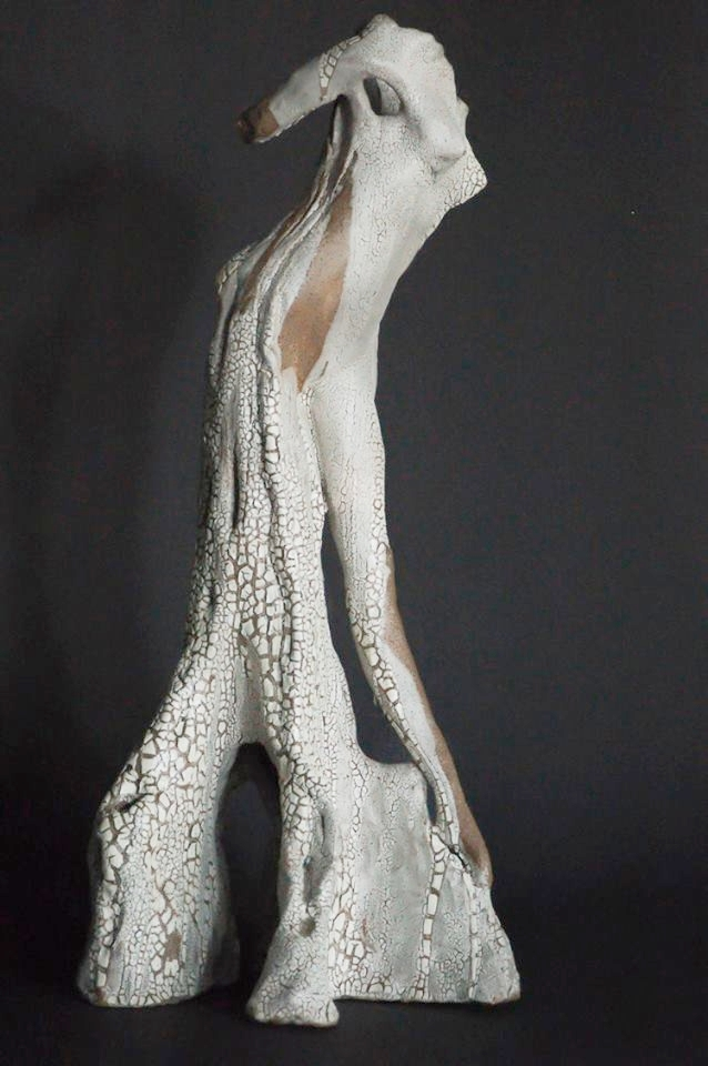 """Cypress Dryad""  Cypress Tree  16"" Clay Sculpture"