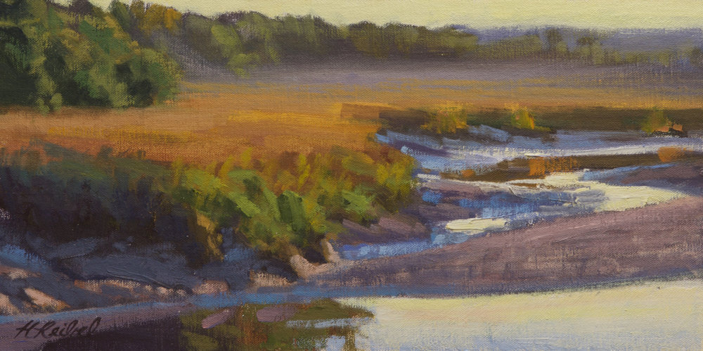 """Study for Falling Tide, Huspah Creek""  Oil on linen  8"" x 16"""