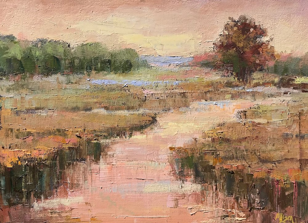 """Auburn Light""  Oil on Canvas  18"" x 24"""