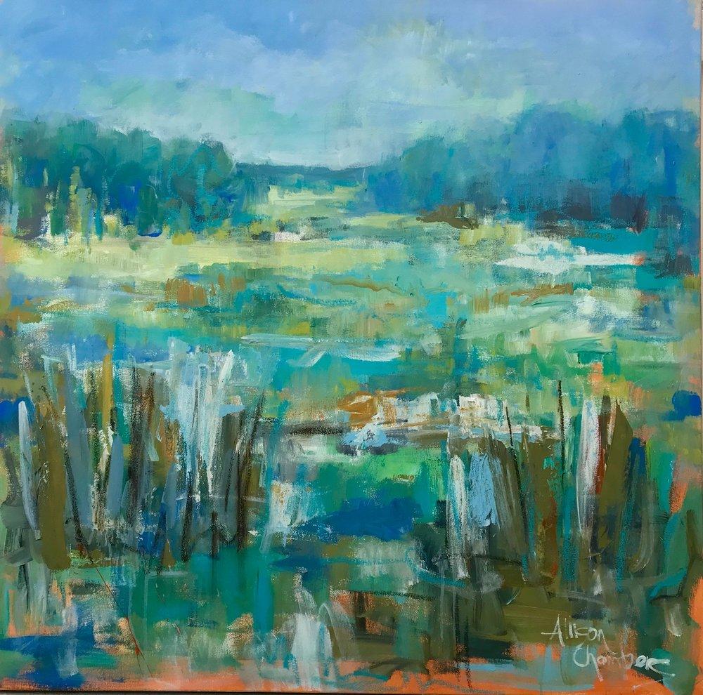 """Joyful Expression""  Oil on Canvas  40"" x 40"""