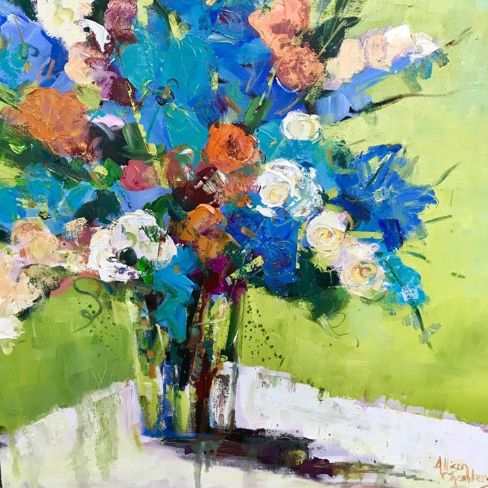 """Wild Child""  Oil on Canvas  36"" x 36"""