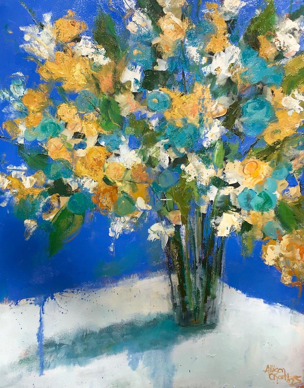 """""""Rhythm and Blues""""  Oil on Canvas  36"""" x 30"""""""