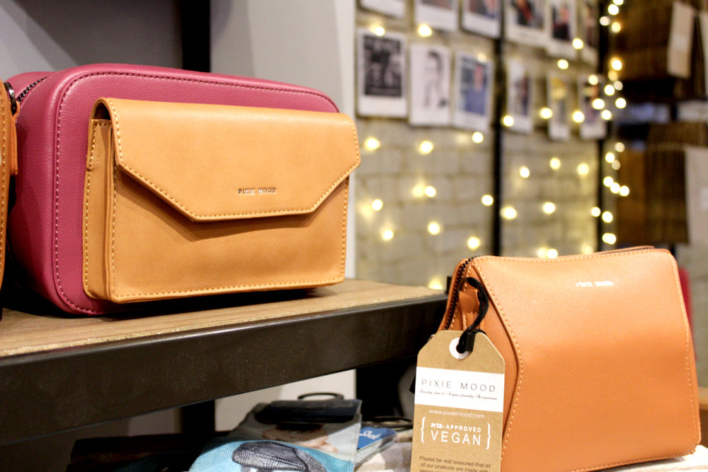 For the eco-friendly fashionista, a vegan leather handbag by Pixie Mood hits all the right spots. From wallets to cross-bodies,  Fresh Collective  (Toronto) has a style for everyone.