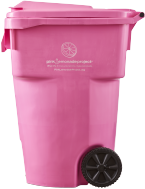Pink Recycling Cart