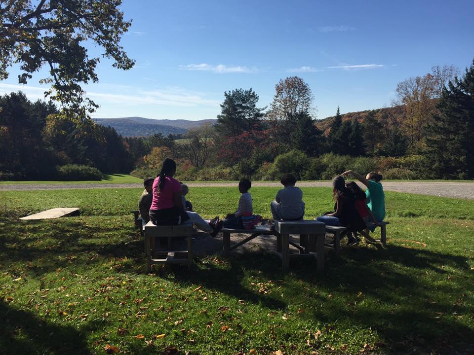 Students camping at Whispering Pines