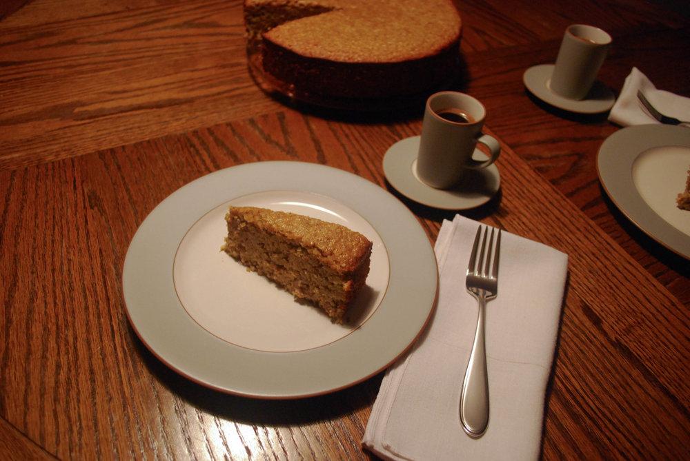 Apricot Almond Cake slice
