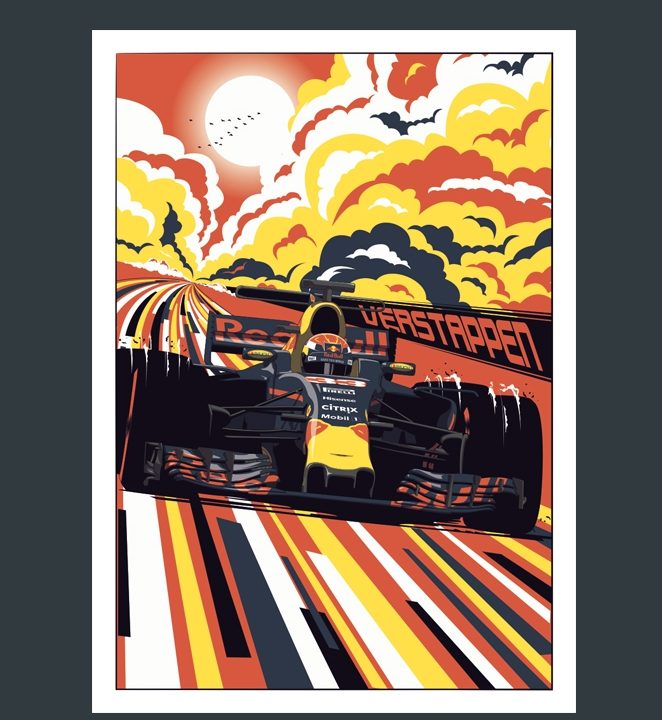 Chris Rathbone's gorgeous driver posters available on his site: ChrisRathbone.com