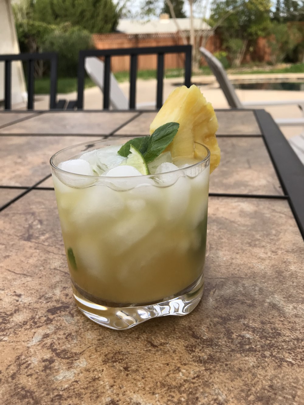 spiced pineapple cocktail