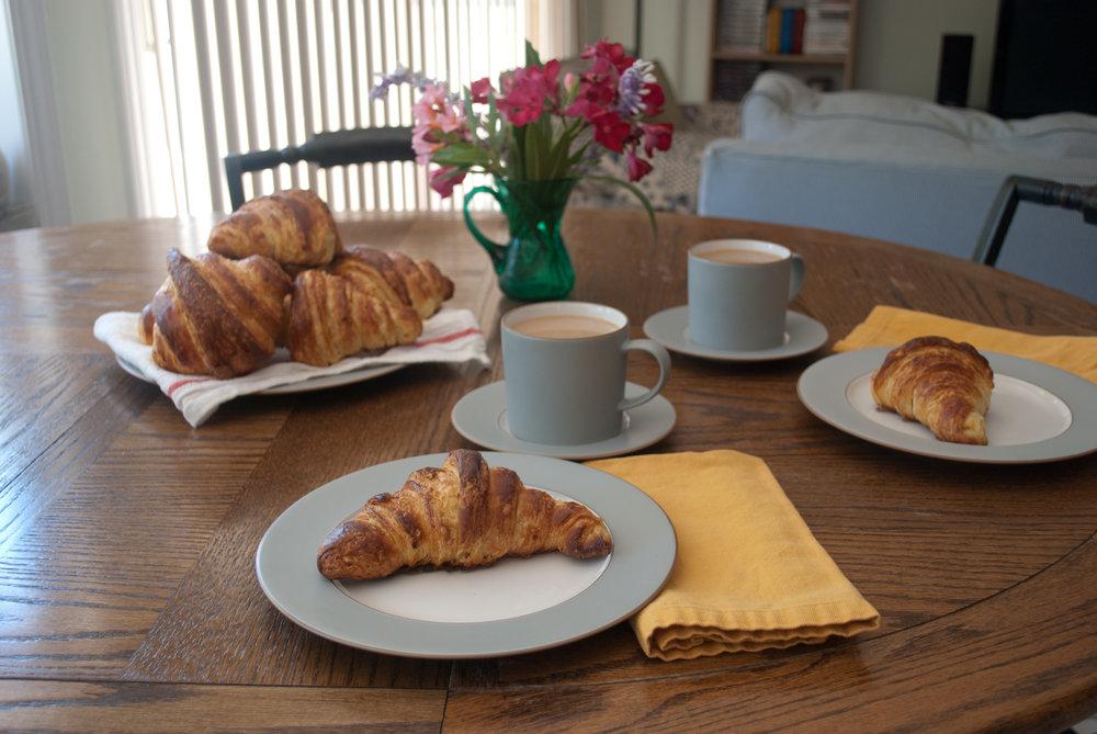 Croissants and Cafe Au Lait