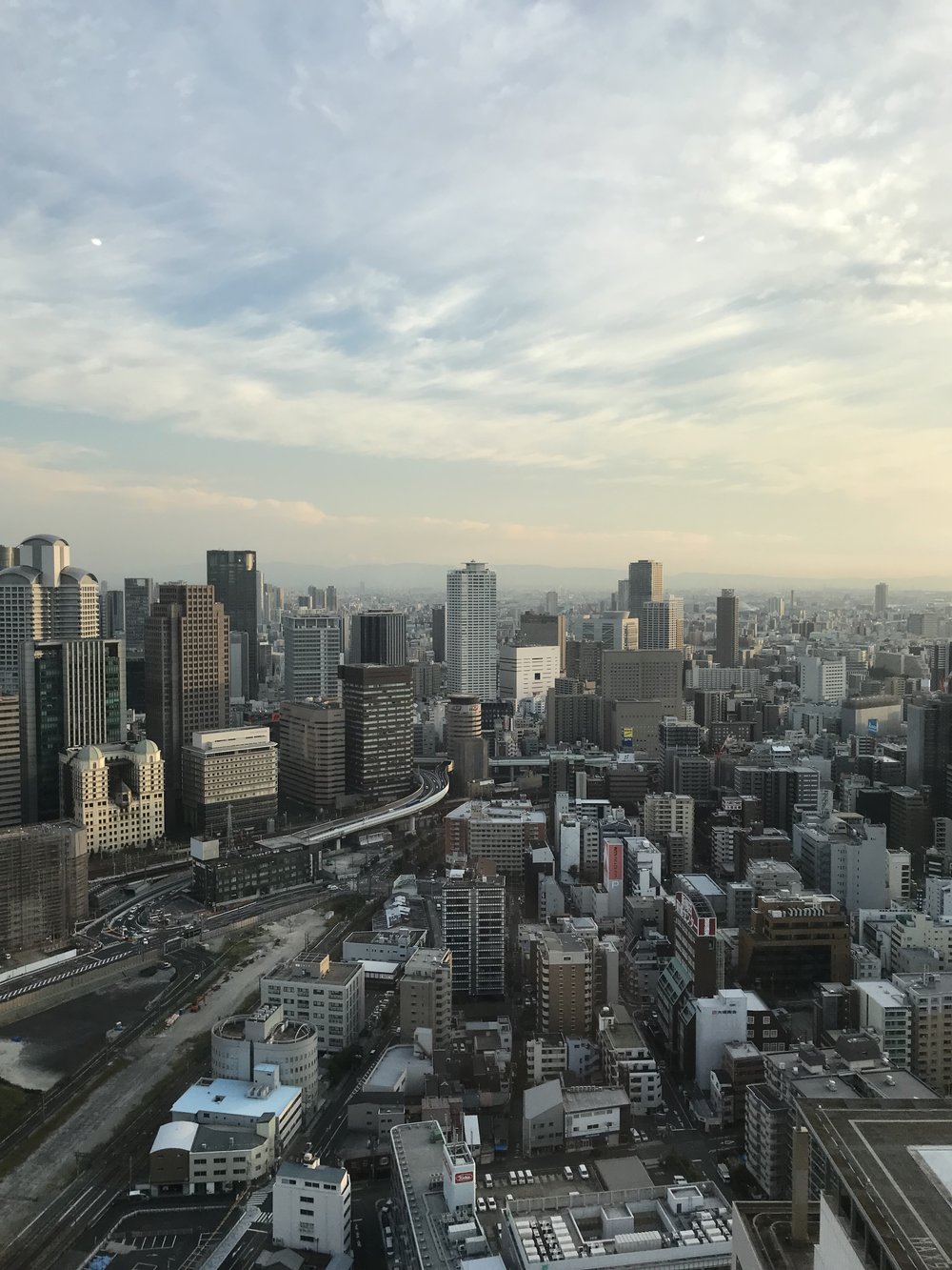 View of Osaka from Umeda Sky Tower