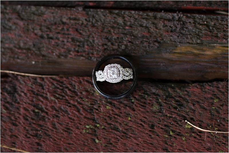 vintage halo wedding ring for country wedding