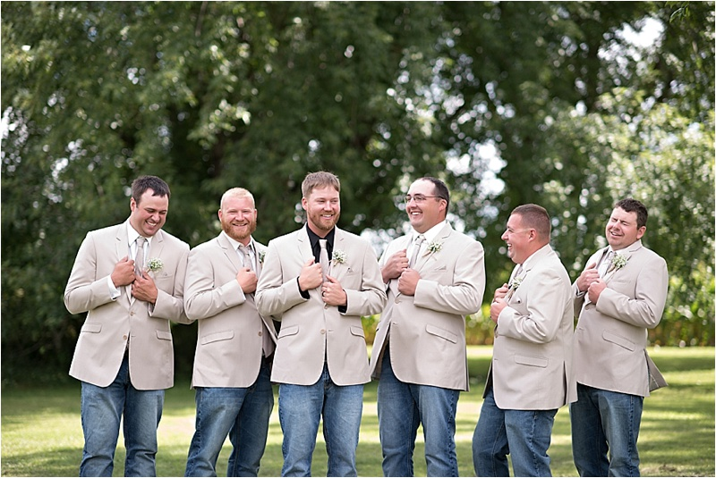 groomsmen attire at country wedding