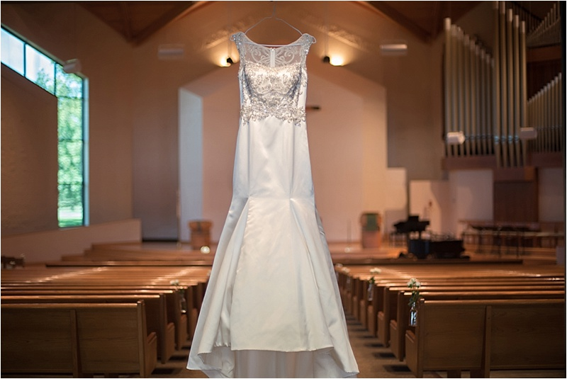 beaded trumpet bridal gown