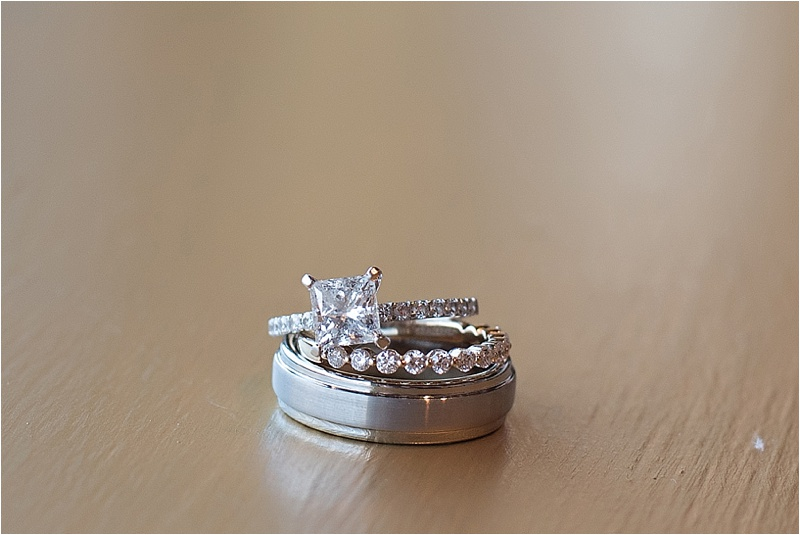 Princess cut wedding ring