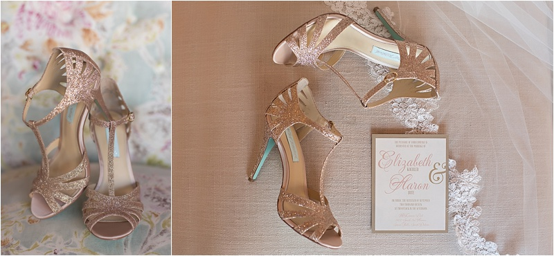 blush gold and ivory wedding details
