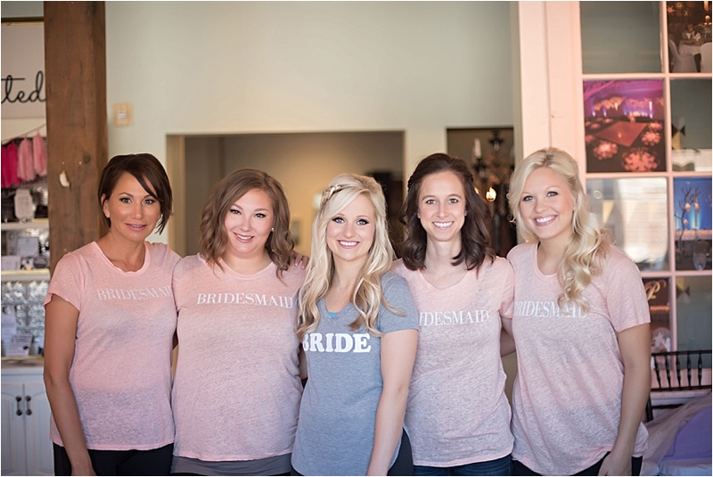 blush bridesmaid shirts
