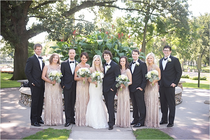 formal outdoor wedding bridal party