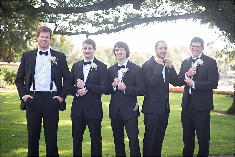 formal groomsmen suit with bowtie