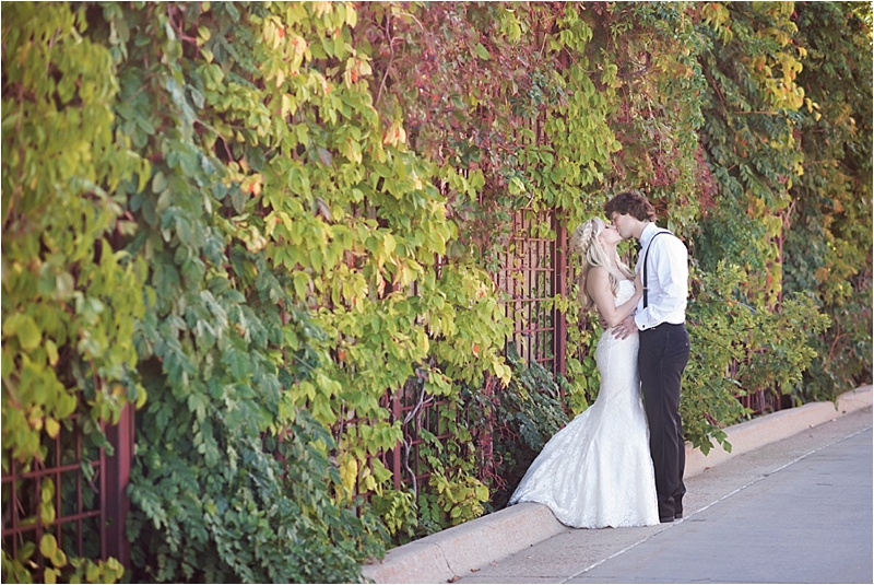 downtown sioux falls ivy wall bridal portraits
