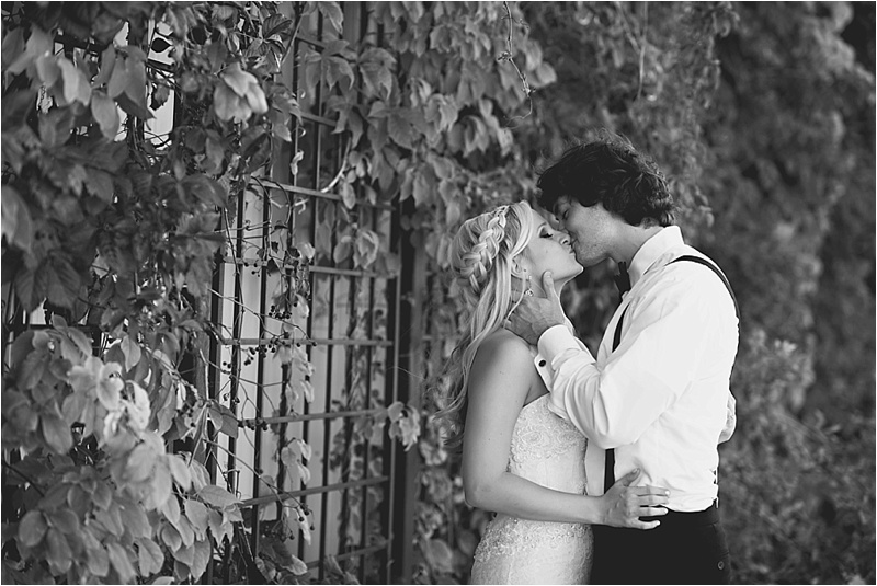 romantic downtown sioux falls ivy wall bridal portraits
