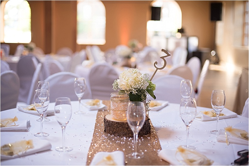 formal rustic wedding reception decor