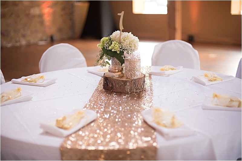 rustic formal reception decor