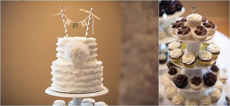 simple ivory wedding cake design