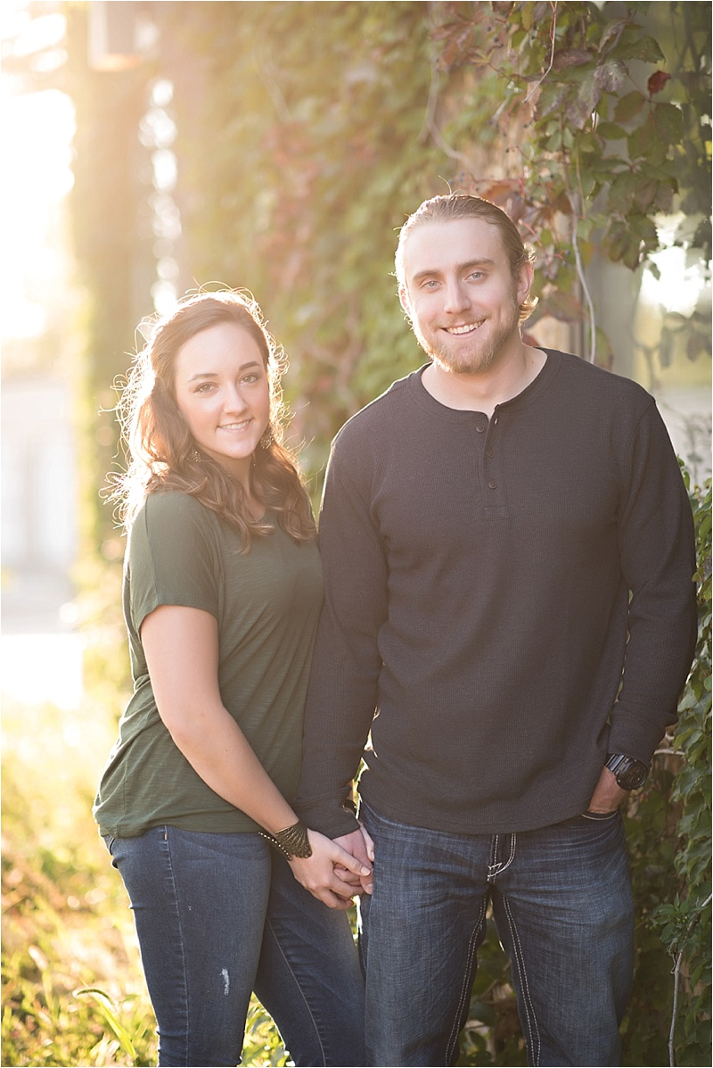 Edgy Fall evening engagement session