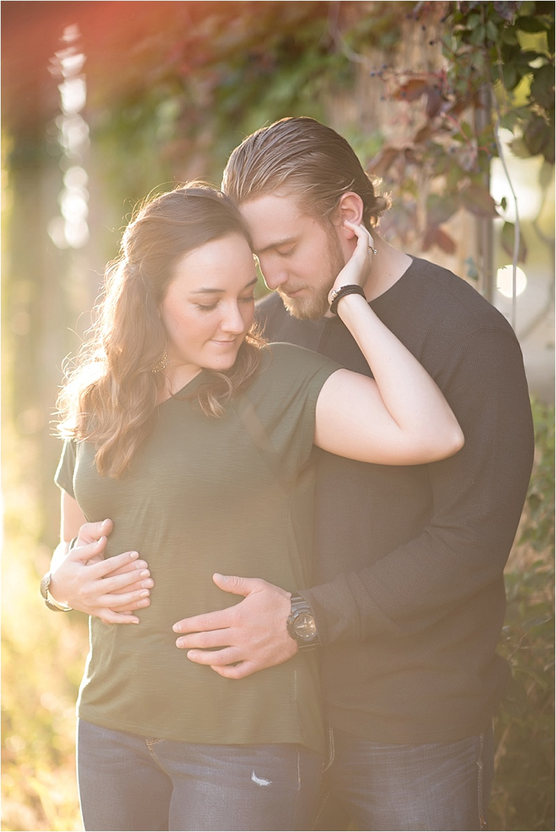 Romantic fall engagement session