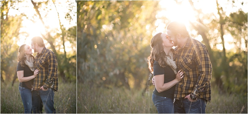 Evening fall engagement session