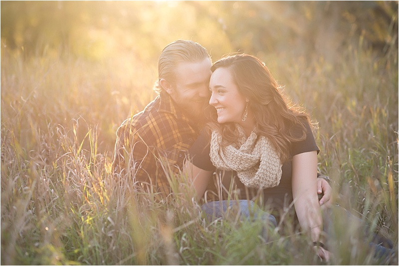 Fall evening engagement session