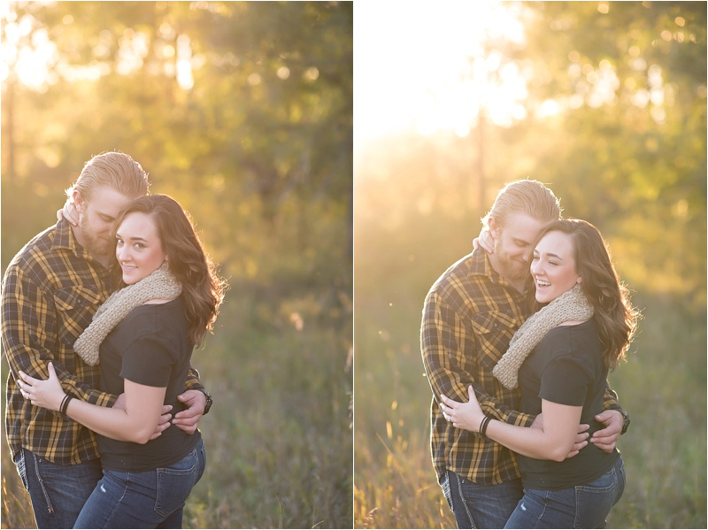 Fun fall engagement photo shoot