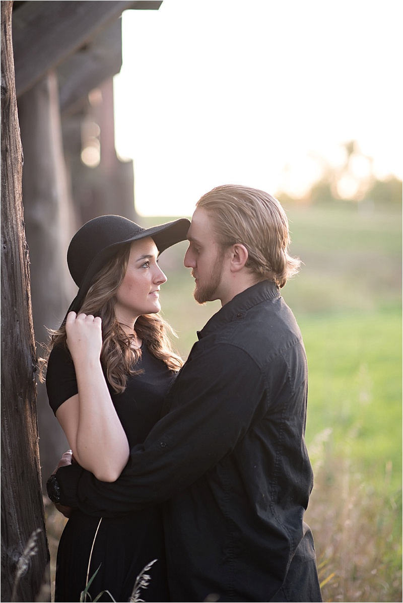 Flirty engagement photography