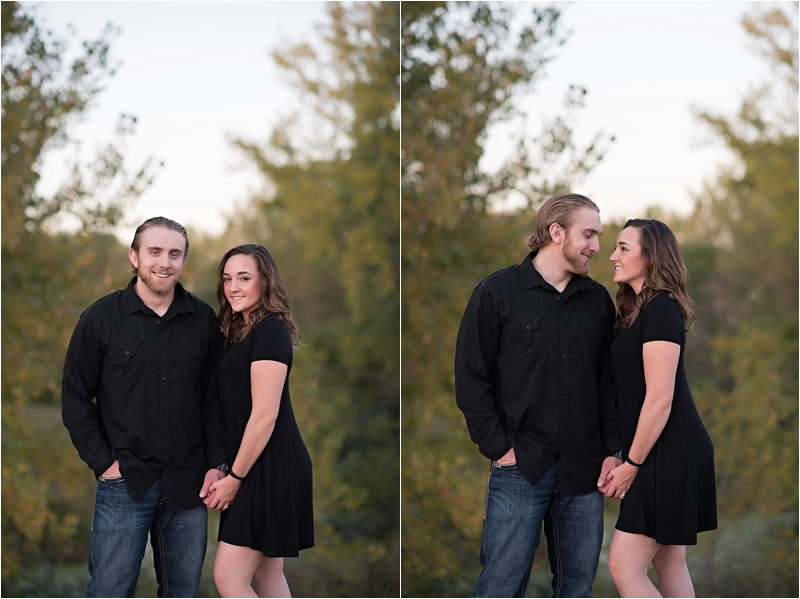 Fun fall engagement photography