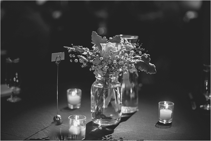 baby's breath white rose winter simple centerpiece