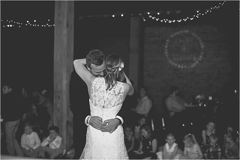 vintage chic downtown wedding dance first dance