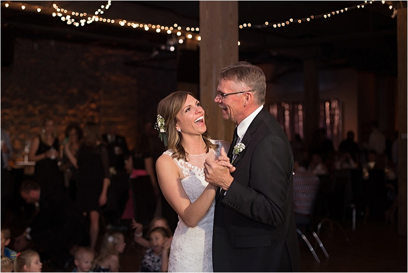 vintage chic downtown wedding dance father daughter