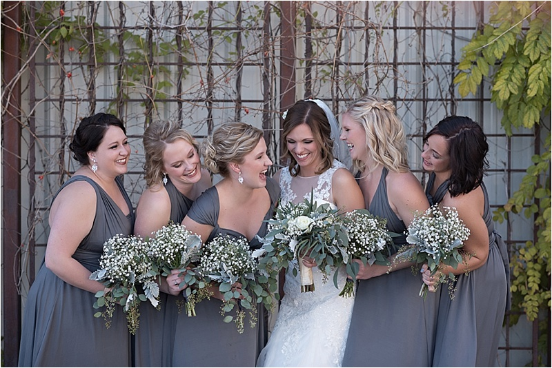 same color different style bridesmaid dresses