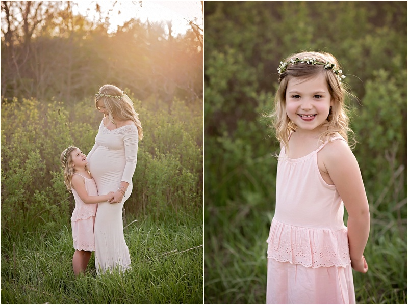 Mother Daughter Maternity Portraits