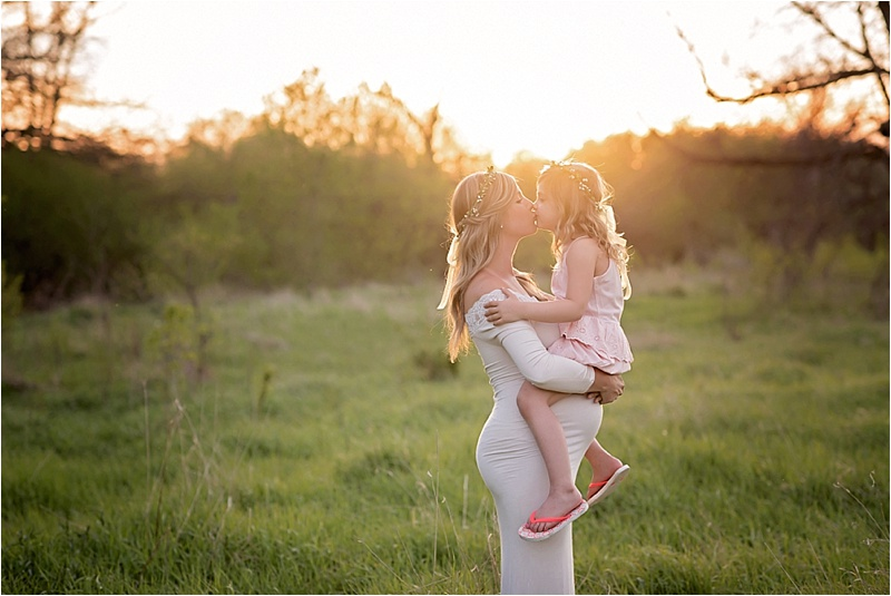 Sunset Mother Daughter Maternity Session | Kate Jones Studios | Sioux Falls, SD