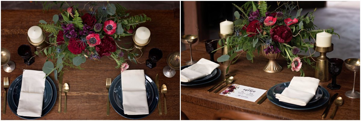 boho inspired wedding table setting